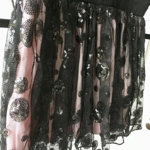 Black & Pink Skirt with Sequin Details